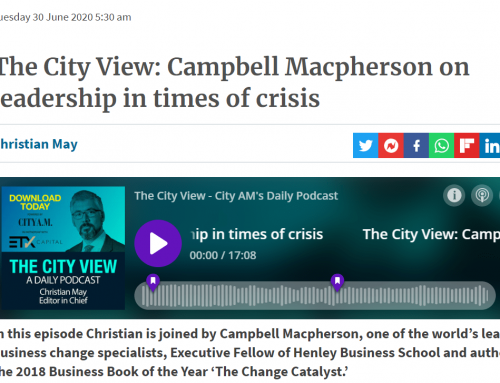 Leading in a crisis feat. City AM and the Police!